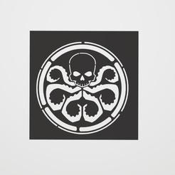 Descargar diseños 3D Stencil Hydra Logo, lautybovavidela