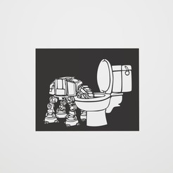 AT-AT Bath.jpg Download STL file Stencil AT-AT toilet • 3D printer design, lautybovavidela