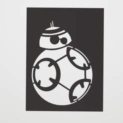 Sin título.jpg Download STL file Stencil BB-8 • 3D printing design, lautybovavidela