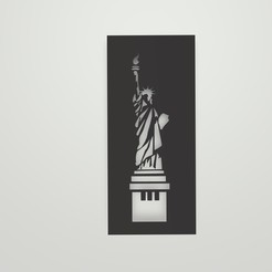 Sin título.jpg Download STL file Statue of Liberty Stencil • 3D printing template, lautybovavidela