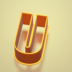 U.jpg Download STL file All Letters and Numbers - Cookie Cutters • Model to 3D print, lautybovavidela