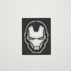 Sin título.jpg Download STL file Iron Man Logo Stencil • 3D printer template, lautybovavidela