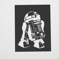 Descargar archivo 3D Stencil R2-D2, lautybovavidela