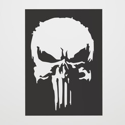 Download free 3D printer designs Stencil Punisher logo, lautybovavidela