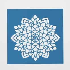 Descargar modelos 3D Stencil Mandala, lautybovavidela