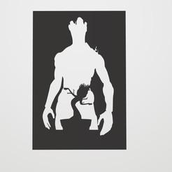 Sin título.jpg Download STL file Stencil Groot • 3D printing object, lautybovavidela
