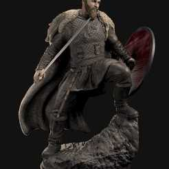 WhatsApp Image 2020-06-04 at 23.42.29 (2).jpeg Download STL file Ragnar Lothbrock Vikings • Template to 3D print, famadvb