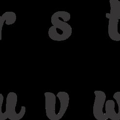 Letras BaliScript en minuscula-r.w.png Download STL file BaliScrip Alphabet cutter in small letters of 3,5cm • Design to 3D print, LeoAdrian24