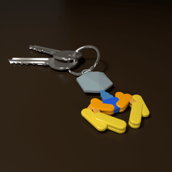 Phage Render 02.png Download OBJ file Bacteriophage Keychain • 3D print template, Catris