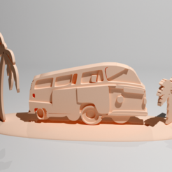 Download 3D printer designs Surf and palm trees and summer suit, Mcmidou