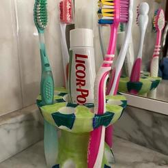 Porta cepillo 6.jpeg Download STL file Toothbrush holder • Model to 3D print, lardiprint3D