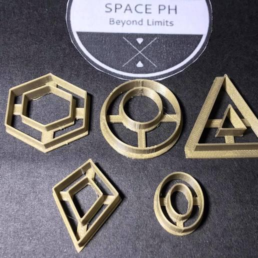 124019724_1198907420491088_3786930041547752259_n.jpg Download STL file Polymer Clay Earring Cutter Dangle Set Batch 4 • 3D print design, josephco3637