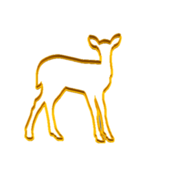 ciervo.png Download OBJ file Deer Cookie Cutter • 3D printer model, Maru_8_10