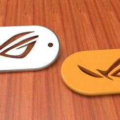 untitled.245.jpg Download STL file KEY CHAIN, LLAVERO asus, gamer keychain • 3D printer model, JGSerey