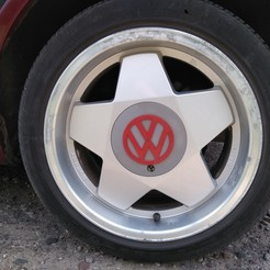 Download 3D model Borbet rim center cap VW, muse_sriuboj