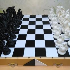 Download OBJ file Chess board - box • 3D printing template, muse_sriuboj