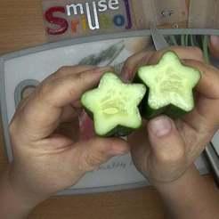 MS_zvaogzdeti_agurkai_3.Movie_Snapshot.jpg Download free STL file Fruit mold - star • 3D printable template, muse_sriuboj