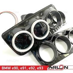 "1.jpg Download STL file Ashtray Gauge Pod, 3x 52mm, Fits BMW series 3 E90/91/92/93 ""Arlon Special Parts"" • 3D printable template, Arlon"