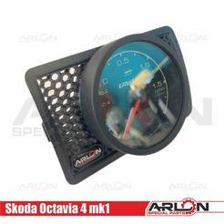 "1.jpg Télécharger fichier STL Air Vent Gauge Pod, 62mm, Fits Skoda Octavia 4 mk1 ""Arlon Special Parts"" • Design imprimable en 3D, Arlon"