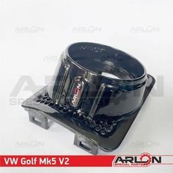"6.jpg Download STL file 💥💥👉  Air Vent Gauge Pod, 62mm, Greddy, Fits VW Golf MK5 v2 ""Arlon Special Parts"" • 3D printer design, Arlon"