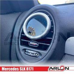 """1.jpg Download STL file 💥💥👉  Air Vent Gauge Pod, 52mm, Mercedes SLK R171 """"Arlon Special Parts"""" • 3D printer template, Arlon"""