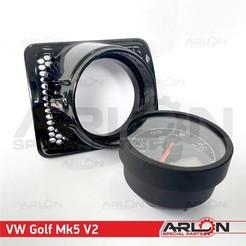 "1.jpg Download STL file 💥💥👉  Air Vent Gauge Pod, 52mm, Fits  VW Golf MK5 v2 ""Arlon Special Parts"" • Template to 3D print, Arlon"
