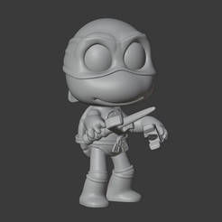 Download 3D printing designs RAPHAEL - NINJA TURTLES, Mapache_3D