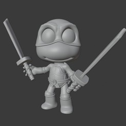 Download free 3D printer model LEONARDO - NINJA TURTLES, Mapache_3D