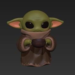 Télécharger fichier STL gratuit BABY YODA • Plan à imprimer en 3D, Mapache_3D