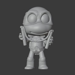 Download 3D printing files MICHELANGELO - NINJA TURTLES, Mapache_3D