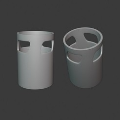 Impresiones 3D gratis BOTE PARA PONER LÁPICES - PORTALÁPICES, Mapache_3D
