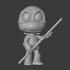 Download 3D printing templates DONATELLO - NINJA TURTLES, Mapache_3D