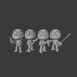 Download STL NINJA TURTLES - PACK, Mapache_3D