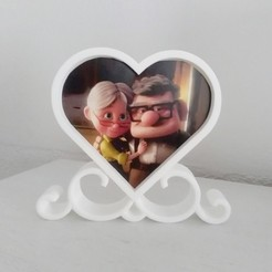 f1.jpg Download STL file DOUBLE PHOTO FRAME - ROMANTIC HEART • 3D printing model, Mapache_3D