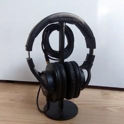 image_01.jpg Download free 3MF file Headphone Stand Cable Holder • 3D printing design, The3Designer