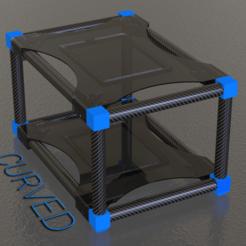 render02.png Download free STL file Tube Frame Desk Organizer Stand • 3D printer model, The3Designer