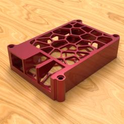 render01.png Télécharger fichier STL gratuit Affaire Voronoi Raspberry Pi 3B+ [Mise à jour • Plan pour imprimante 3D, The3Designer