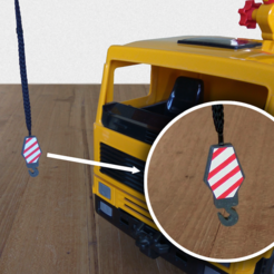 Download free 3D printing templates Toy Crane Hook, The3Designer