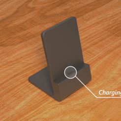 render01.png Download free STL file Charging Phone Stand/Dock • 3D printer template, The3Designer