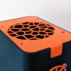 Download free STL files Voronoi NAS Top Plate, The3Designer