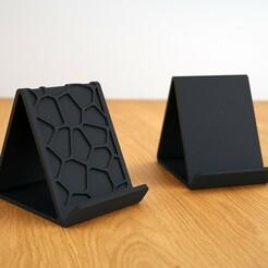 render_01.jpg Télécharger fichier 3MF gratuit Voronoi et titulaire d'un téléphone ordinaire (pas de soutien) • Plan imprimable en 3D, The3Designer