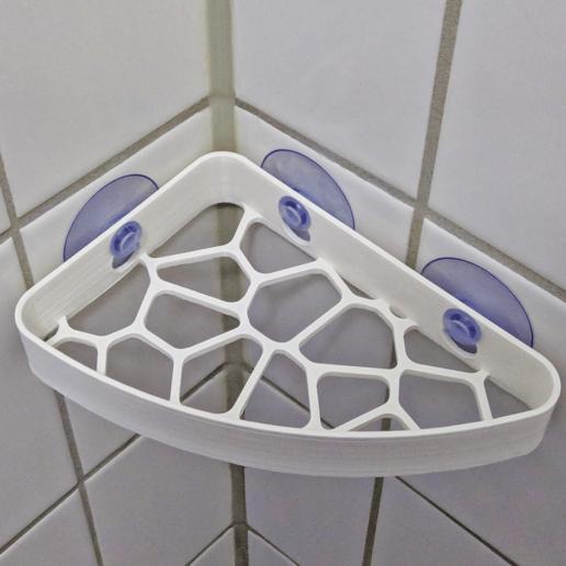 Download free 3D printing templates Voronoi Shower Shelf, The3Designer