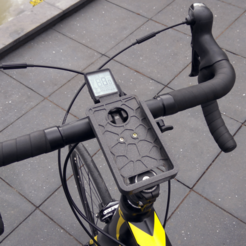 IMG_20200706_111502.png Download free 3MF file Voronoi Bicycle Stem Phone Mount (for Xiaomi Redmi Note 3 Pro) • 3D print object, The3Designer