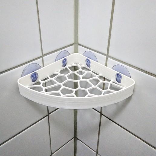 Download free 3D printing files [V2] Voronoi Shower Shelf, The3Designer