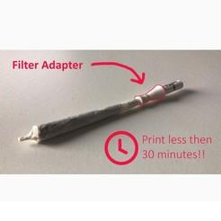 p3.jpg Télécharger fichier STL Doobie Plastic, Adaptateur de joint, moins de 30 minutes d'impression ! • Objet imprimable en 3D, CubicBrain