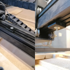 mod.png Download free STL file X-Carve X rail stiffener to reduce chatter • 3D printer design, eried