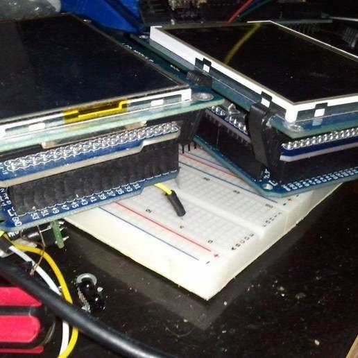 WP_001093.jpg Download free STL file Arduino mega iteadstudio LCD shield holder • 3D printing object, eried