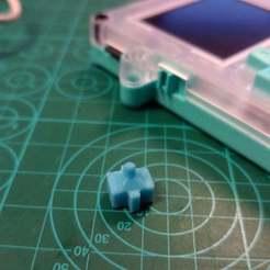 Download free STL file Pokitto D-Pad Center Pivot • 3D printer template, eried