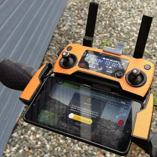 Télécharger fichier STL gratuit DJI Mavic Remote mount (bicyclette et autres avec connexion de type gopro) • Objet imprimable en 3D, eried