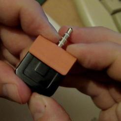 Descargar STL gratis Soporte de plástico para el lector de tarjetas de crédito portátil (conector para auriculares de 3,5 mm), eried